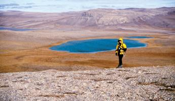 Hiking the Arctic landscape