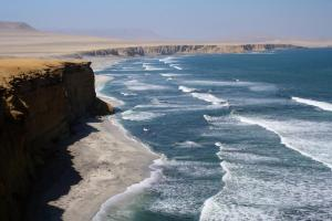 Picturesque shoreline in the Paracas National Reserve