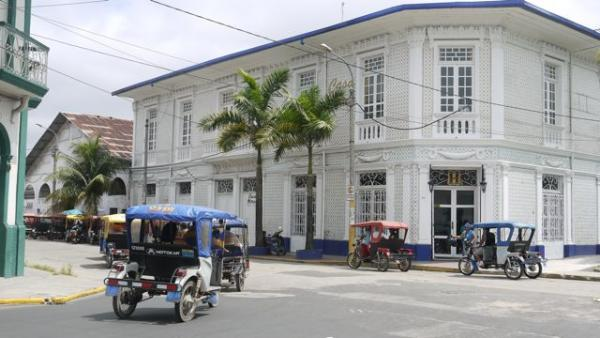 Casa Morey, an ex-rubber baron's home, our hotel in Iquitos