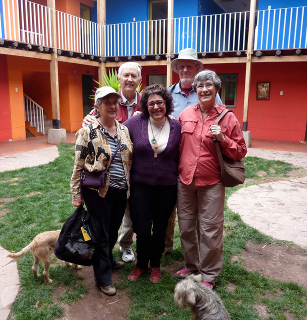 Mantay Shelter Director Raquel Garcia and our group