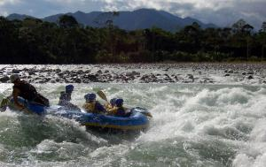 Whitewater rafting adventure in Ecuador