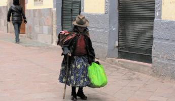 A Peruvian woman on the streets of Cusco
