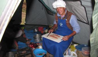 Our cook on the Cachiccata Trek