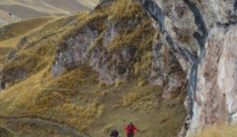 Trekking through Peru