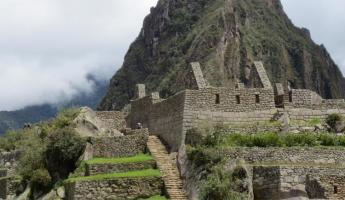 Our arrival at Machu Picchu