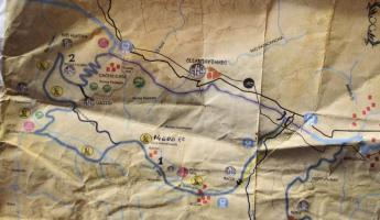 Our trekking map