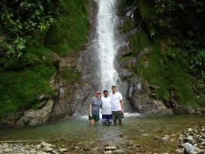 Waterfall hike in the Costa Rican jungle during a stay at Selva Bananito