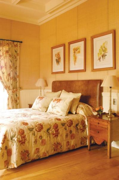 Guest rooms are elegantly furnished