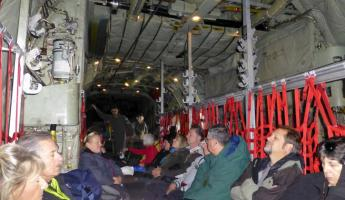 Inside the Hercules - Adventure Class :-)!
