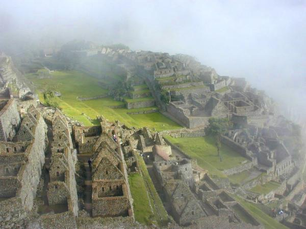 Mysterious haze over Machu Picchu