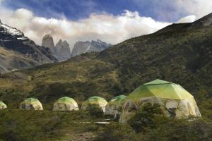 EcoCamp dome tents in Torres del Paine