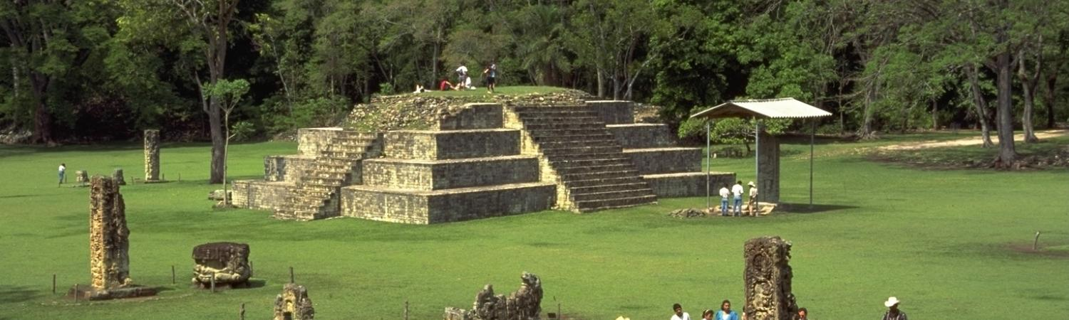 The Copan ruins in Honduras.