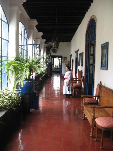 The historic Hacienda Pinsaqui near Otavalo