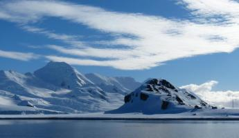 King George Island north of the Antarctic Peninsula