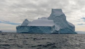 Huge icebergs near Spert Island