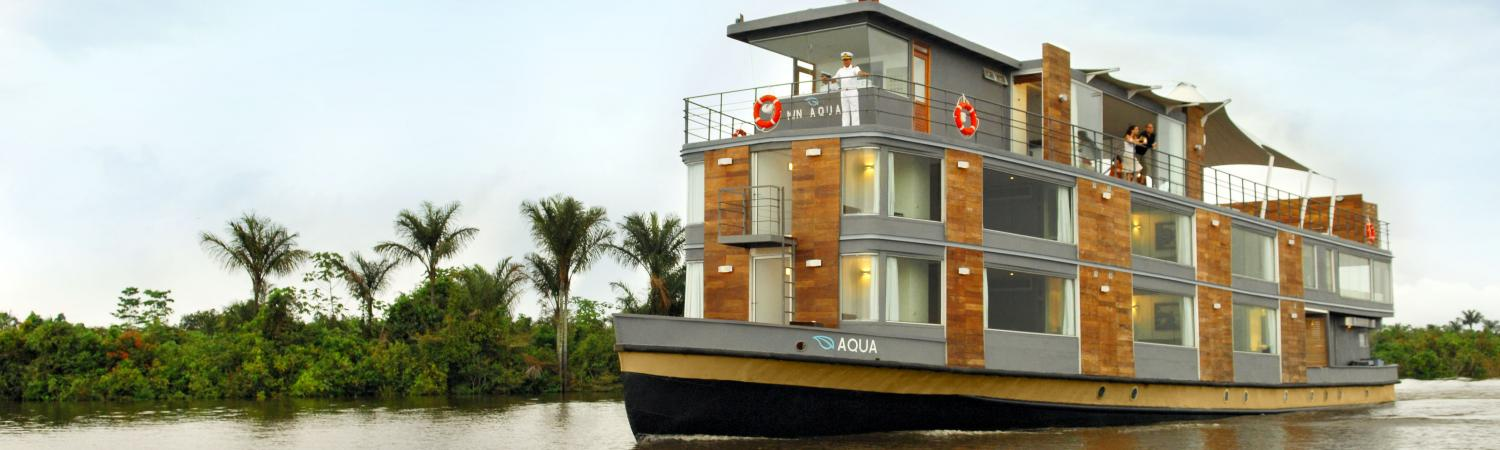 MV Aqua sails the Amazon