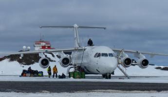 BAE-146 waiting for us to board