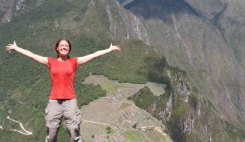 Victory:  On top of Huayna Picchu!