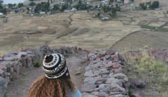 Views of Lake Titicaca from the top of the Pachatata - Earth Father
