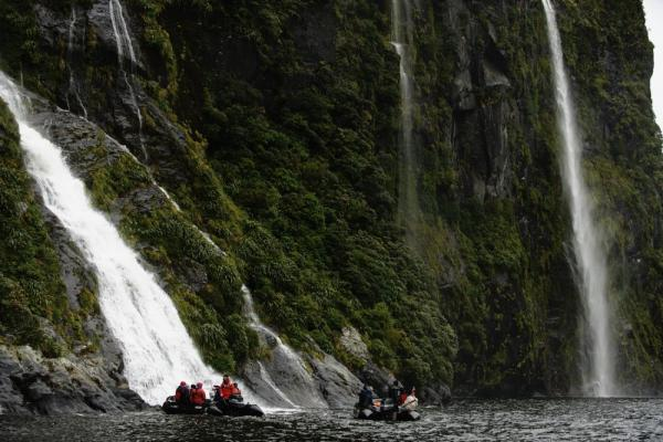 Zodiac on Milford Sound