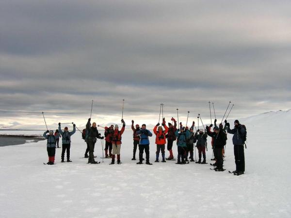 Snowshoeing in the arctic.