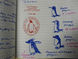 Make notes of wildlife sightings