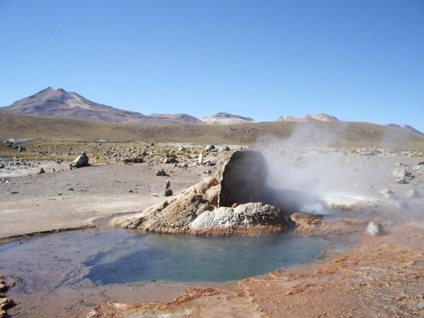 Hot spring in the Atacama