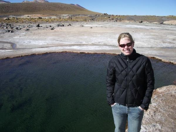 A hot spring pool in the Atamaca Desert