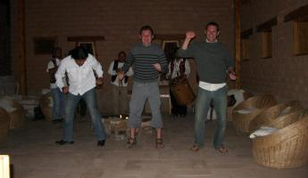 Dancing at the Terrantai Lodge