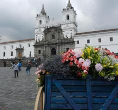 View in the Quito colonial square