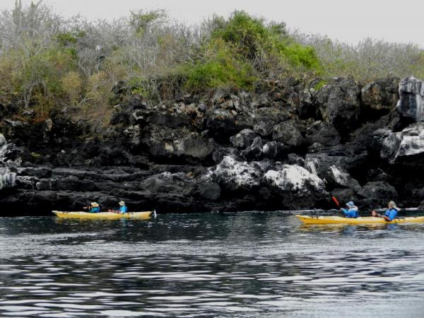 Kayaking around San Cristobal