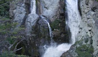 Waterfall next to our refugio