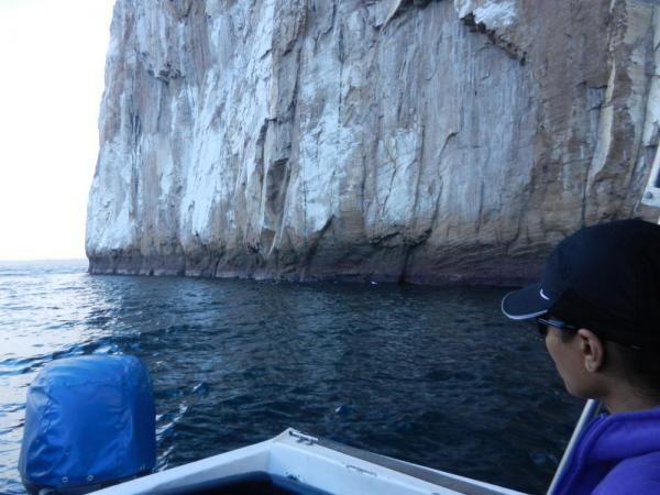 cruising along Kicker Rock