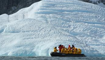 Zodiac trip to see Antarctica.