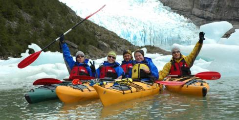 Sea kayaking in Patagonia
