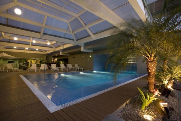 The on-site pool offers refreshment and relaxation