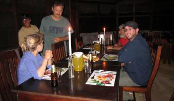 Dinner at the second jungle lodge