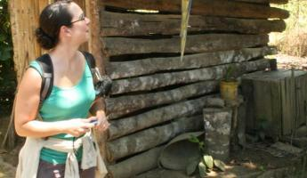 This bird was at a Coca Plantation- he speaks Spanish!