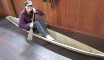 Authentic dugout canoe