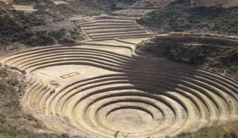 Moray aggricultural terraces in Sacred Valley