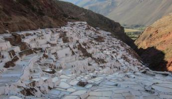 Maras salt mines in Sacred Valley