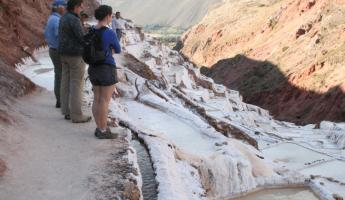 Learning about harvesting salt at Maras