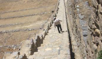 More stairs at Ollantaytambo ruins in the Sacred Valley