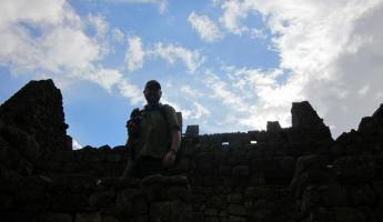 Exploring the Machu Picchu ruins
