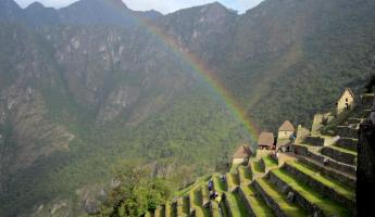 The other end of the rainbow at Machu Picchu