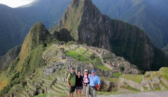 Our tour crew at Machu Picchu