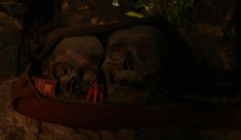 They keep skulls of old relatives in the house