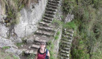 Huayna Picchu Hike- Getting our stair workout in