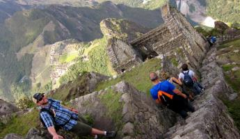 Huayna Picchu Hike- Heading down
