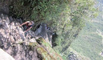 Huayna Picchu Hike: Going down